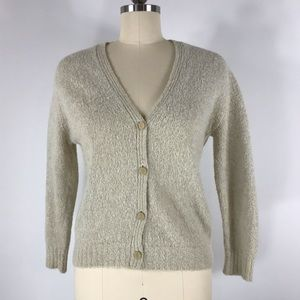 Vtg Saks Fifth Avenue Alpaca Nylon Cardigan XS/S